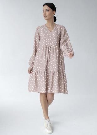 ❗️розпродаж❗️жіноча сукня вільного крою в горошок