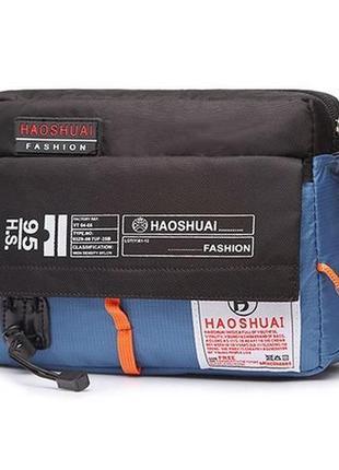 Мужская сумка мессенджер через плечо haoshuai сумка - почтальонка кросс боди