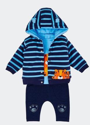 Шикарный комплект курточка+реглан+штаны от dunnes, англия. размер 9-12 мес.