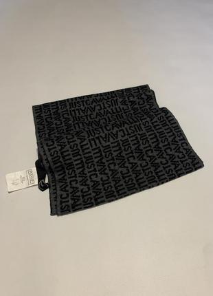 Мужской оригинальный монограмный шарф roberto just cavalli monogram scarf one size