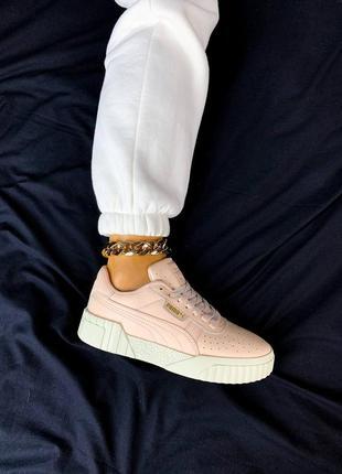 Кроссовки женские низкие кеды puma cali розовые