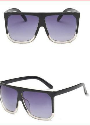 Распродажа солнцезащитные очки с двухцветной рамой и массивными дужками линза градиент