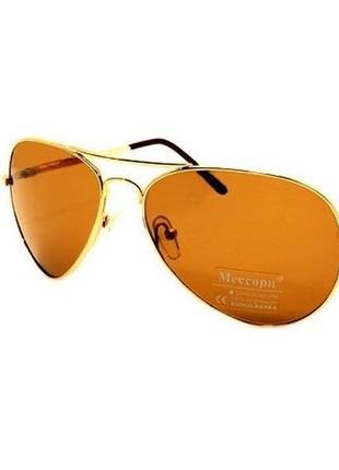 Солнцезащитные очки мессори коричневые со стеклянными линзами