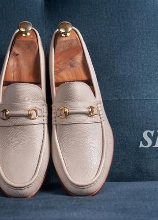 Пенни лоферы с пряжкой k-shoes, индия 43 мужские туфли мокасины кожаные