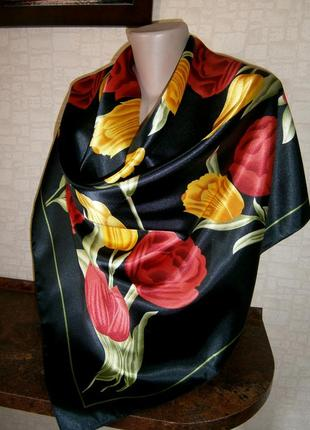 Шикарный. яркий женский платок.