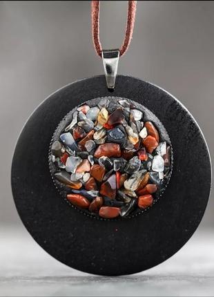 Подвеска кулон дерево натуральные камни / ручная работа/бохо этно стиль