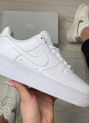 Кроссовки nike air force 1 white белые купить найк аир форс женские