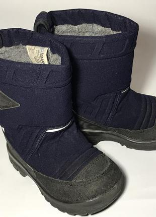 Kuoma зимние детские валенки сапоги ботинки очень теплые синие черные
