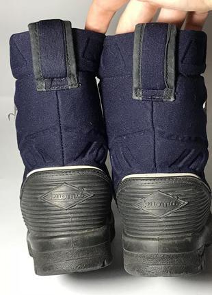 Kuoma зимние детские валенки сапоги ботинки очень теплые синие черные2 фото