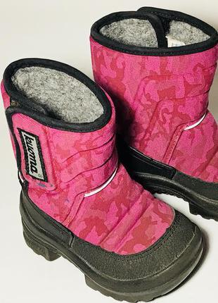 Kuoma зимние детские валенки сапоги ботинки очень теплые розовые1