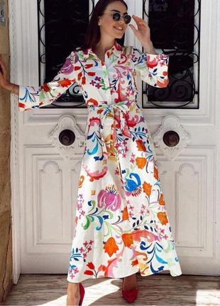 Трендовое платье сарафан сукня плаття zara
