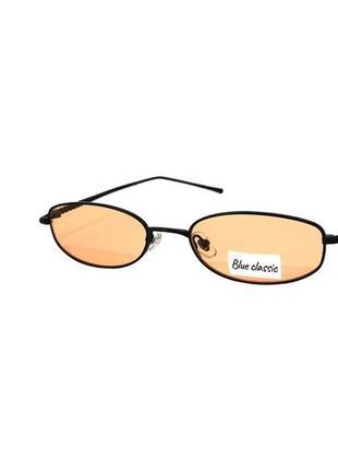Очки солнцезащитные blue classic с узкими оранжевыми линзами