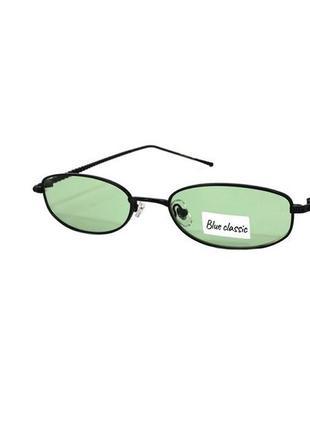 Очки солнцезащитные blue classic с узкими зелеными линзами