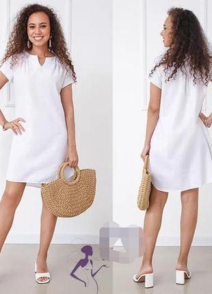 Свободное летнее платье лён