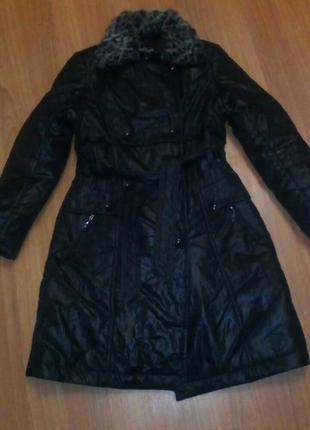 Стеганое  зимнее пальто ( под пуховичок)newmark