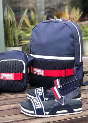 Большой городской рюкзак для прогулок tommy jeans