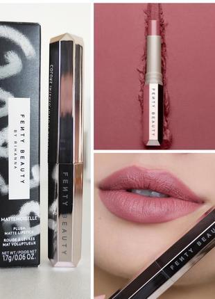 Матовая нюдовая помада для губ fenty beauty mattemoiselle plush matte lipstick