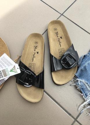 Шлепанцы тапочки кожаные шлепки тапки сандали босоножки