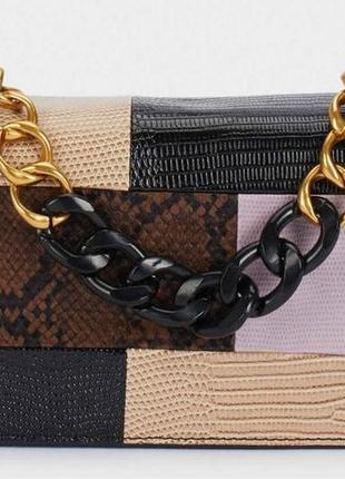 Новая стильная сумочка  parfois женская сумка через плечо  клатч