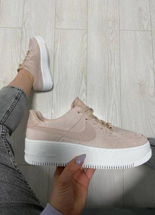 Nike air sage platform particle beige бежевые купить найки женские