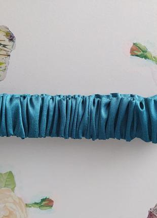Модная сатиновая  повязка на голову повязка для волос ободок обруч ручная работа