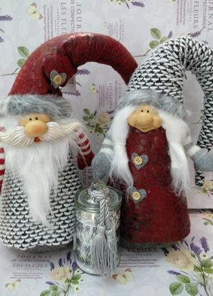 Куклы гномы интерьерные пара