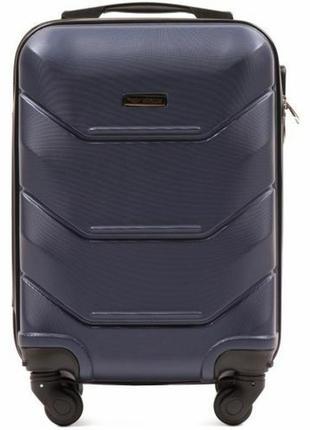 Чемодан пластиковый дорожная сумка на 4 колёсах мини 147  xs wings ( синий / blue )