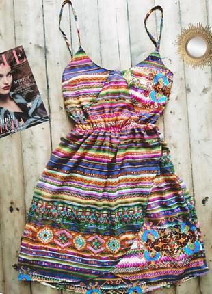 Платье сарафан бохо bershka