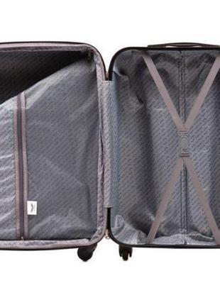 Чемодан пластиковый дорожная сумка на 4 колёсах мини 147 xs wings ( бордовый burgundy )5 фото