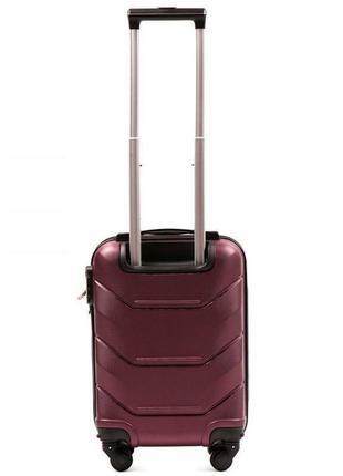 Чемодан пластиковый дорожная сумка на 4 колёсах мини 147 xs wings ( бордовый burgundy )2 фото