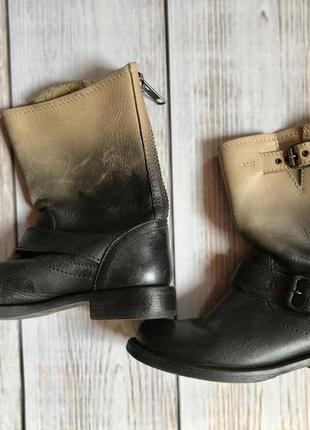Актуальные деми тренд кожаные ботинки на дюймовочку на маленькую ногу 34-35 размер
