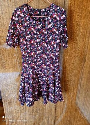 Платье в цветочках