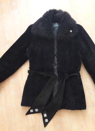 Дубленка куртка шубка мутоновая, натуральная шуба , 36-38р