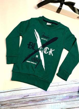 Реглан  темно зеленый для мальчика 3/4 года1 фото
