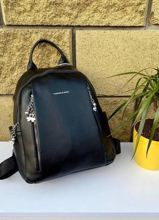 Черный повседневный городской рюкзак