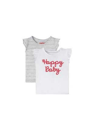 Комплект футболок 2 шт. для дівчинки 18-24 міс