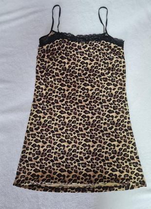 Леопардовая пижама ночнушка туника