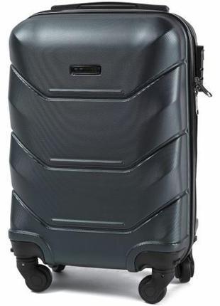 Чемодан пластиковый дорожная сумка на 4 колёсах мини 147 xs wings ( зеленый / green )