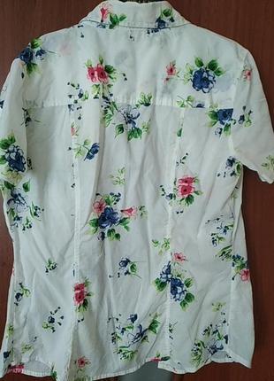 Стильная, нежная рубашка с летним принтом2 фото