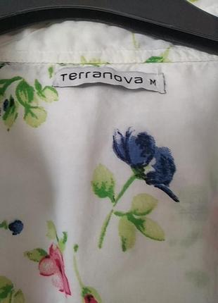 Стильная, нежная рубашка с летним принтом3 фото