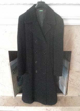 Шерстяное пальто benetton оригинал бойфренд, бушлат, р. 46