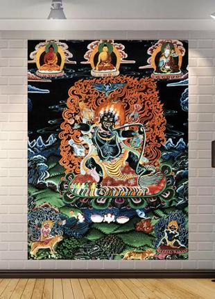 Картина текстильная гобелен настенный ваджрапани
