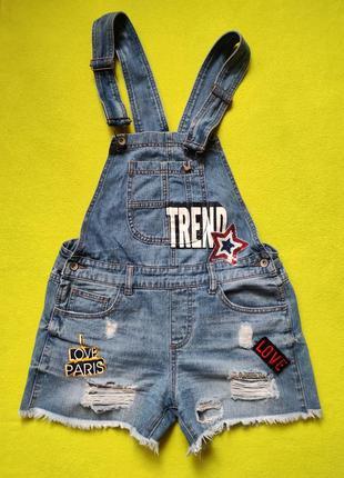 Джинсовые шорты/джинсовый комбинезон/шорты на бретелях/джинсовые шорты-комбинезон