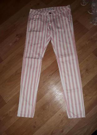 Джинсы брюки amisu в полоску размер 40