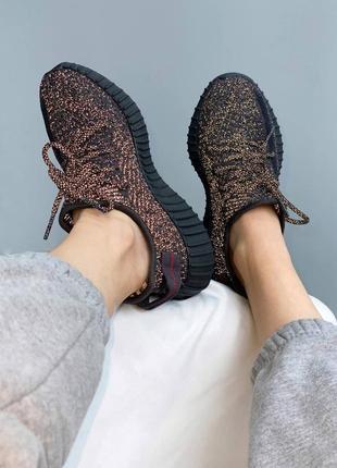 Кроссовки adidas yeezy boost 350 black reflective