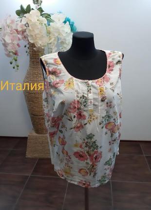 Блуза в цветочный принт италия коттон