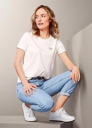 Стильная качественная женская базовая футболка от tcm tchibo (чибо), германия, s-l