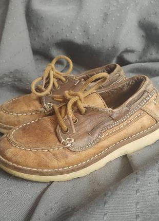 Топсайдеры туфли мокасины кожаные натуральные next коричневые кожа zara