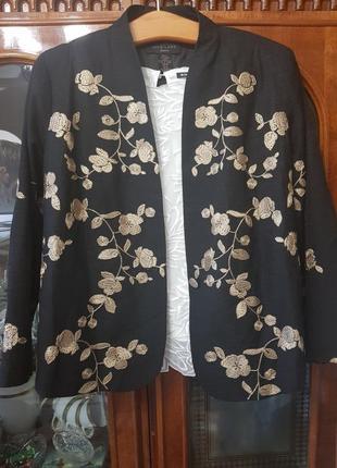 Пиджак 75% шелк, вышивка