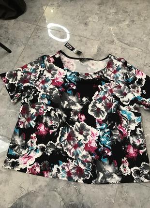 Распродажа все по 200 грн 🔥🔥🔥 блуза с коротким рукавом в цветы
